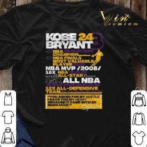 Kobe Bryant 24 8 5X NBA Champion 2X NBA Finals Most Valuable shirt sweater 2