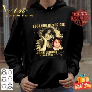 Legends never die John Lennon 1940-1980 signature shirt