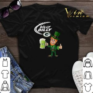 Leprechaun Dilly Dilly beer Green Bay Packers St Patrick day shirt sweater