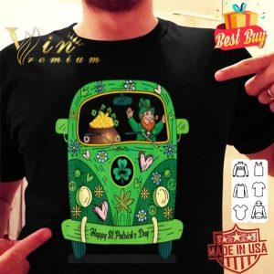 Leprechaun Gold Pot Hippie Car Funny St Patricks Day shirt