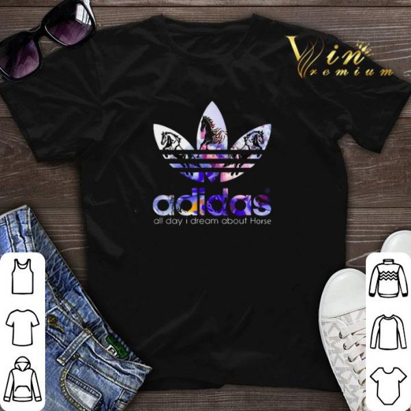 Logo adidas all day i dream about Horse shirt sweater