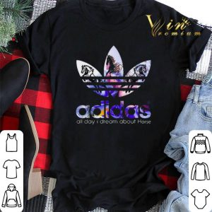 Logo adidas all day i dream about Horse shirt sweater 1