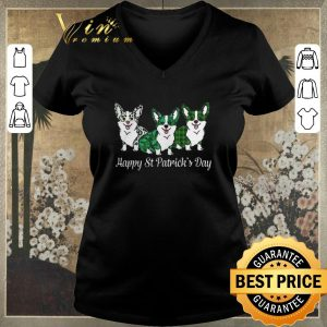 Nice Corgi Happy St Patrick's Day shirt sweater 1