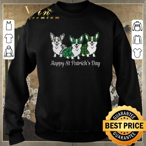 Nice Corgi Happy St Patrick's Day shirt sweater