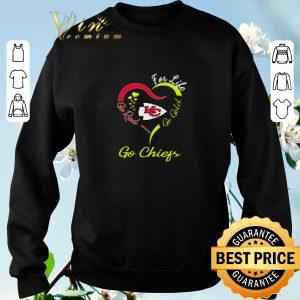 Nice For life go red go gold go Kansas City Chiefs shirt sweater 2