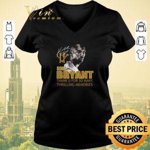 Nice RIP Kobe Bryant Thank u for so many thrilling memories signature shirt sweater 1