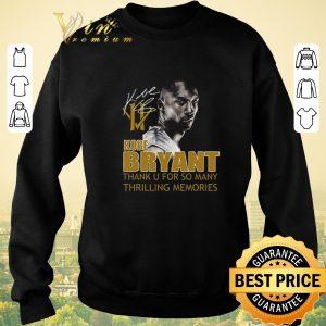 Nice RIP Kobe Bryant Thank u for so many thrilling memories signature shirt sweater 2