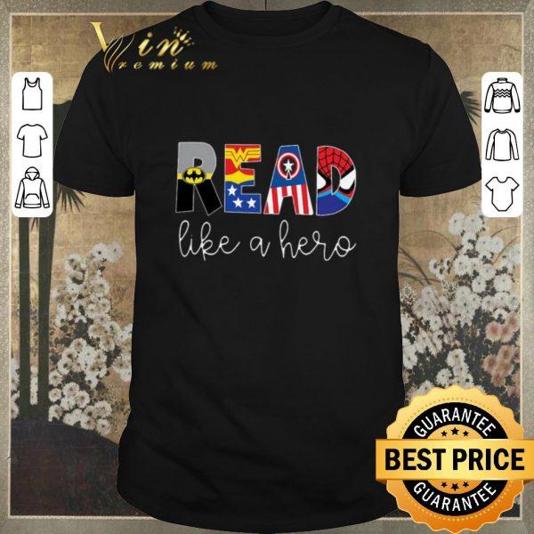 Nice Superheroes symbol read like a hero shirt