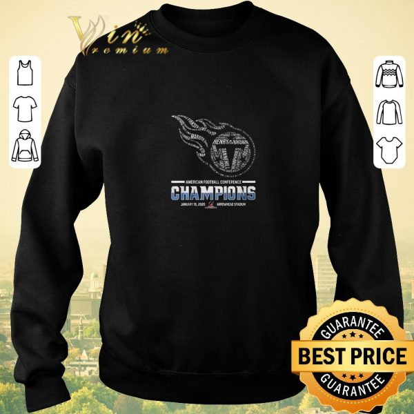 Nice Tennessee Titans American Football Conference Champions shirt