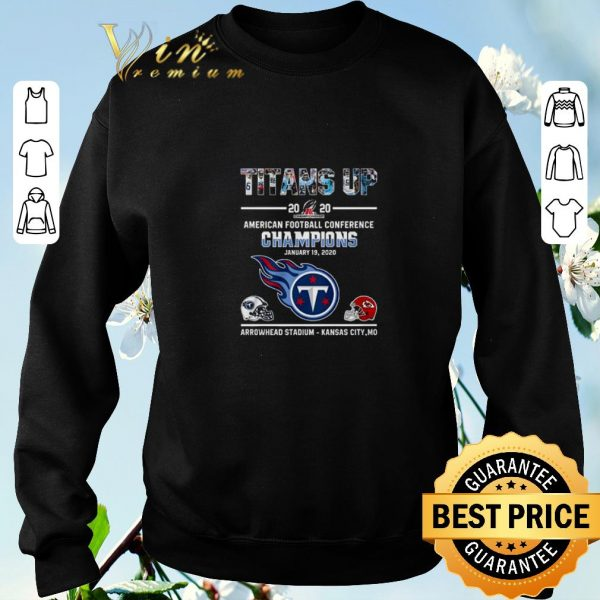 Nice Tennessee Titans vs Kansas City Chiefs American Football Conference Champions shirt
