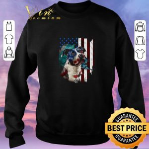 Official American flag Pitbull dog USA flag shirt sweater 2