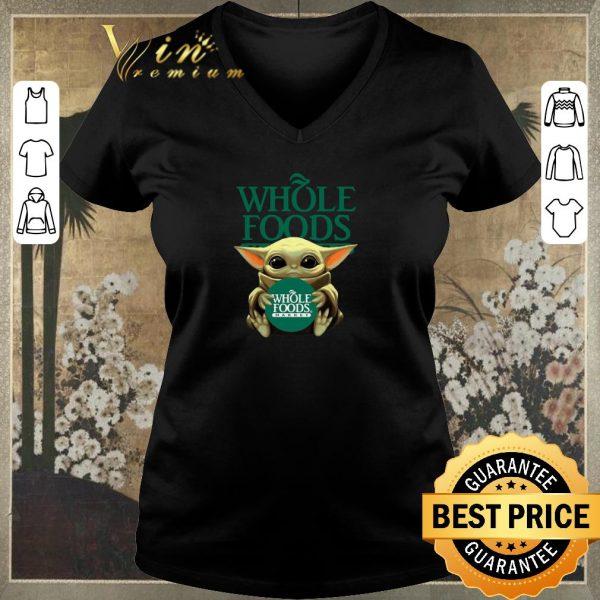 Official Baby Yoda Hug Whole Foods Market Star Wars shirt sweater