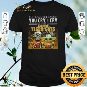 Official Baby Yoda Jeff Dunham you laugh i laugh Hamilton Tiger Cats shirt sweater