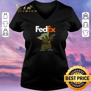 Official Baby Yoda dabbing Fedex Star Wars shirt sweater 1
