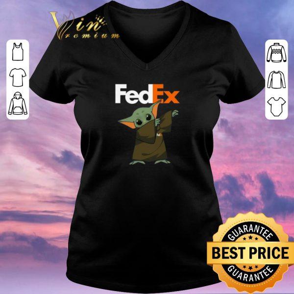 Official Baby Yoda dabbing Fedex Star Wars shirt sweater