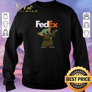 Official Baby Yoda dabbing Fedex Star Wars shirt sweater 2