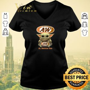 Official Baby Yoda hug A&W All American Food shirt sweater 1