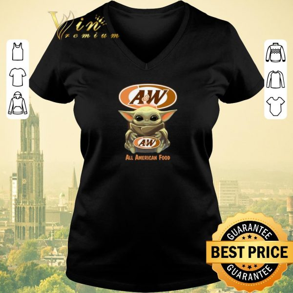 Official Baby Yoda hug A&W All American Food shirt sweater