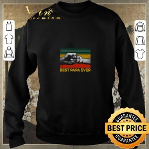 Official Best Papa ever vintage shirt 2