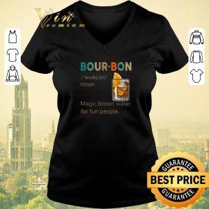 Official Bourbon Noun vintage Magic brown water for fun people shirt 1