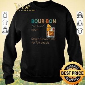 Official Bourbon Noun vintage Magic brown water for fun people shirt 2