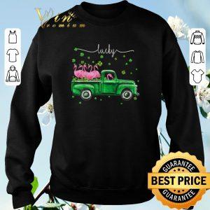 Official Flamingos Irish Lucky St. Patrick's day shirt sweater 2