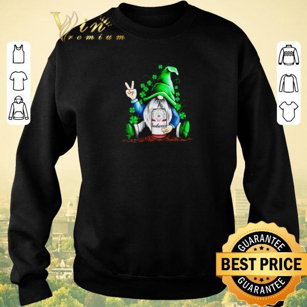 Official Gnomes Hug Budweiser St. Patrick's Day shirt sweater
