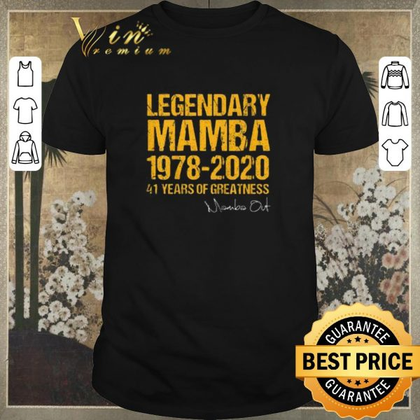Official Legendary Mamba 1978 2020 41 Years Of Greatness Mamba Out signed shirt sweater