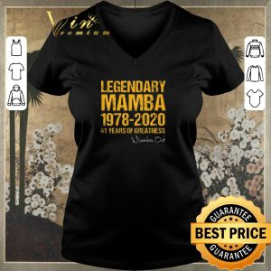 Official Legendary Mamba 1978 2020 41 Years Of Greatness Mamba Out signed shirt sweater 1