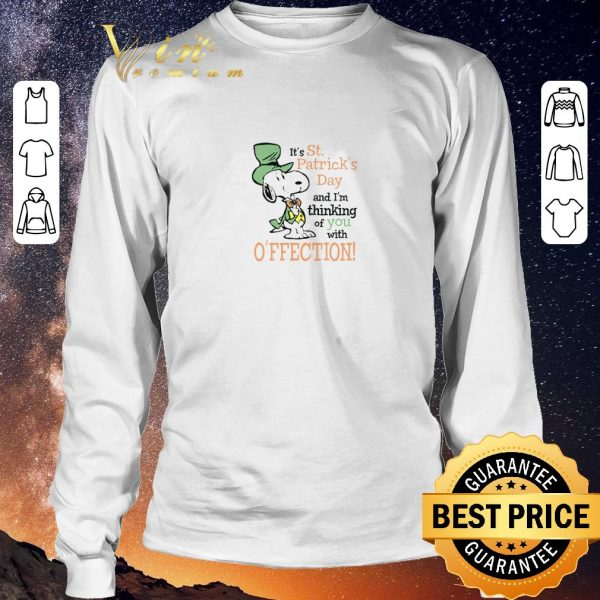 Official Snoopy It's St. Patrick's Day and I'm thinking of you with affection shirt