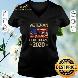 Official Veteran For Trump 2020 American flag shirt sweater 1