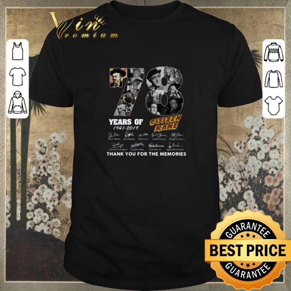 Original 78 Years Citizen Kane Thank You For The Memories shirt