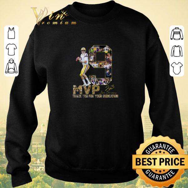 Original 9 Joe Burrow MVP signature thank you for your dedication shirt sweater