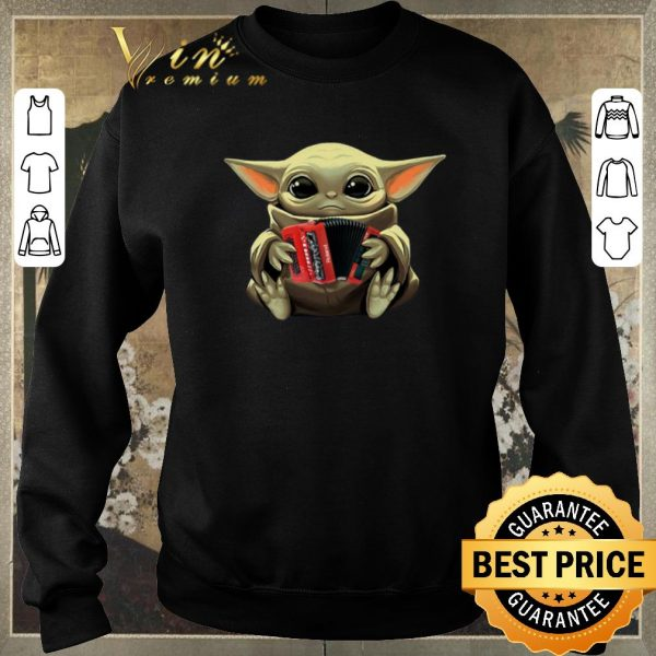 Original Baby Yoda Hug Accordion Star Wars shirt sweater