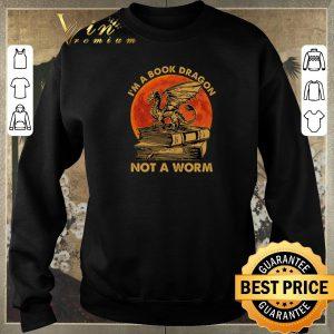 Original I'm a book dragon not a worm sunset shirt sweater 2