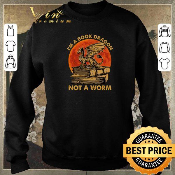 Original I'm a book dragon not a worm sunset shirt sweater