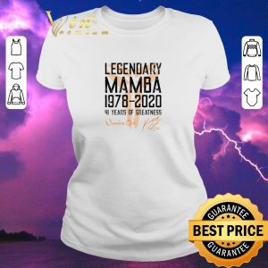 Original Mamba out Legendary Mamba 1978 2020 41 years of greatness shirt