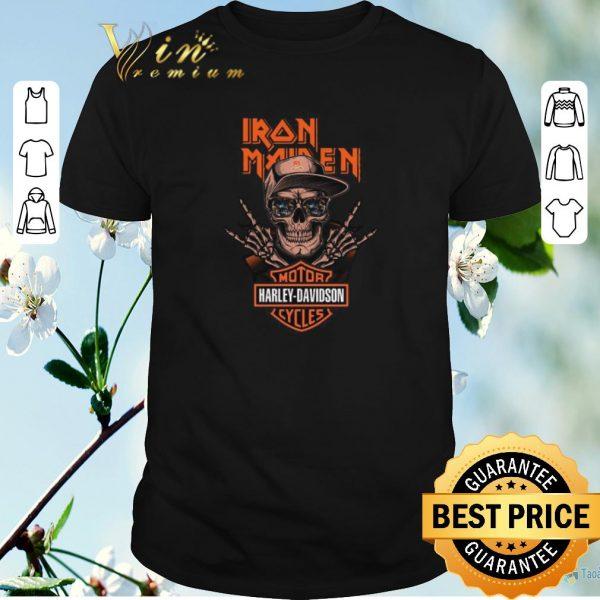 Original Rock skeleton Iron Maiden Motor Harley Davidson Cycles shirt sweater