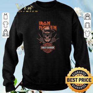 Original Rock skeleton Iron Maiden Motor Harley Davidson Cycles shirt sweater 2