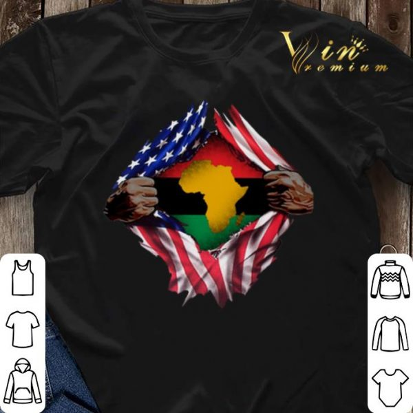 Pan-Africanism Blood Inside Me South African American Flag shirt sweater