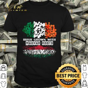 Patrick Day irish Ireland root Magyar Hungary Flag tshirt