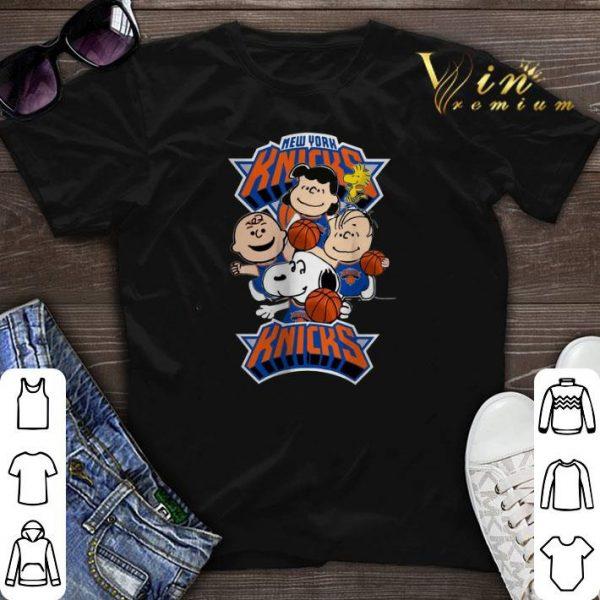 Peanuts characters mashup New York Knicks shirt sweater
