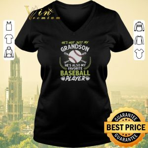Premium He's not just my grandson he's also my favorite baseball player shirt sweater 1