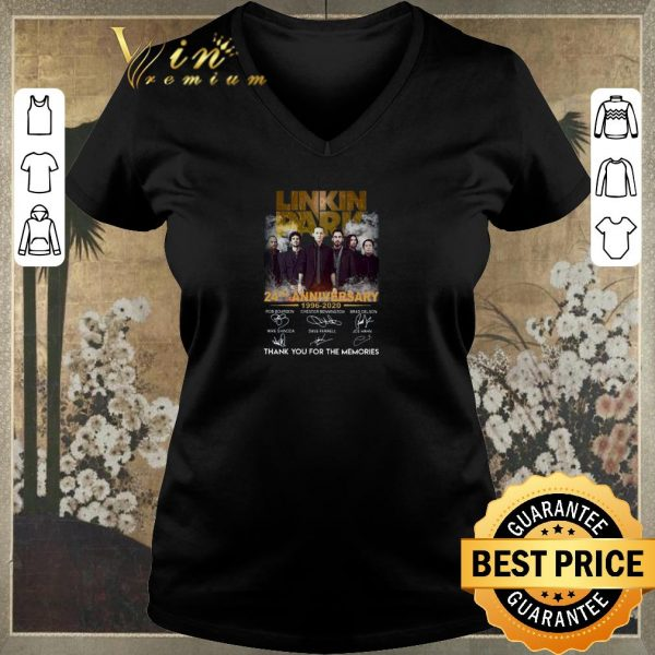 Premium Linkin Park 24th Anniversary Thank You For The Memories Signatures shirt sweater
