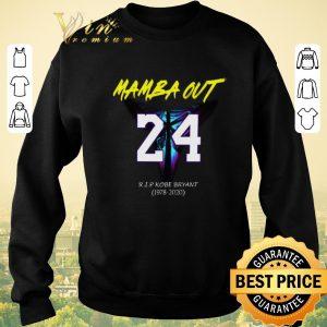 Premium Mamba Out 24 R.I.P Kobe Bryant logo Black Mamba 1978 2020 shirt sweater 2