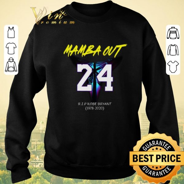Premium Mamba Out 24 R.I.P Kobe Bryant logo Black Mamba 1978 2020 shirt sweater