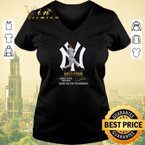Premium New York Yankees Hall of Fame Derek Jeter 1995-2014 signature thank you for the memories shirt 1