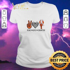 Premium Peace love crawfish shirt sweater 1
