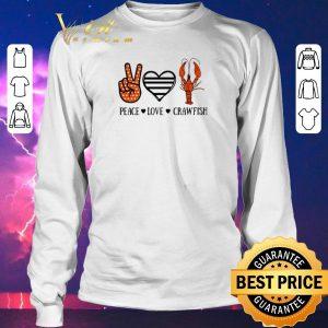 Premium Peace love crawfish shirt sweater 2