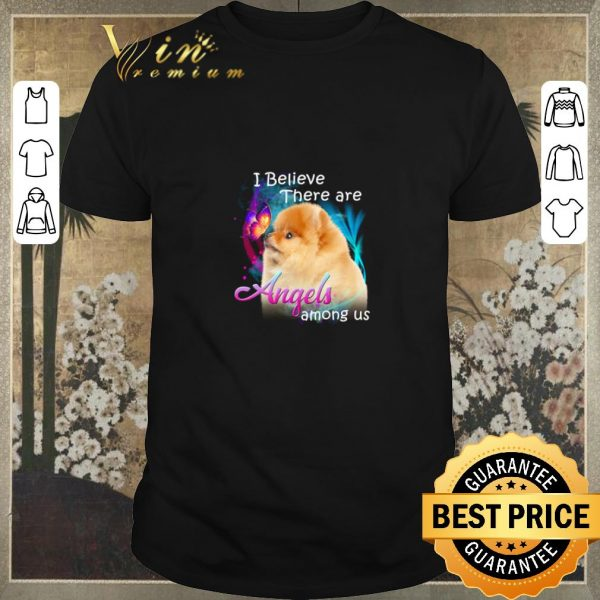 Premium Pomeranian I believe there are angels among us shirt